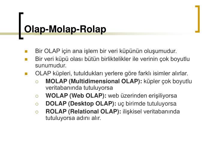 Olap-Molap-Rolap