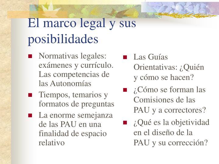 Normativas legales: exámenes y currículo. Las competencias de las Autonomías