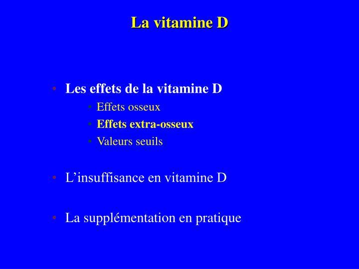 La vitamine D
