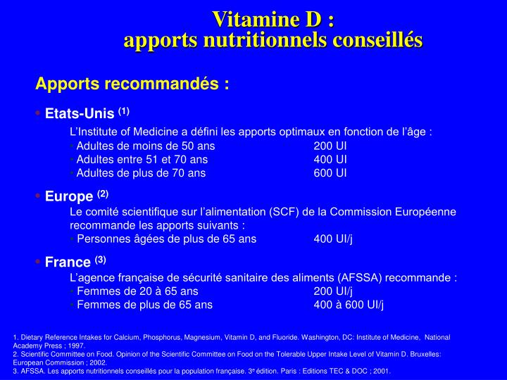 Vitamine D :