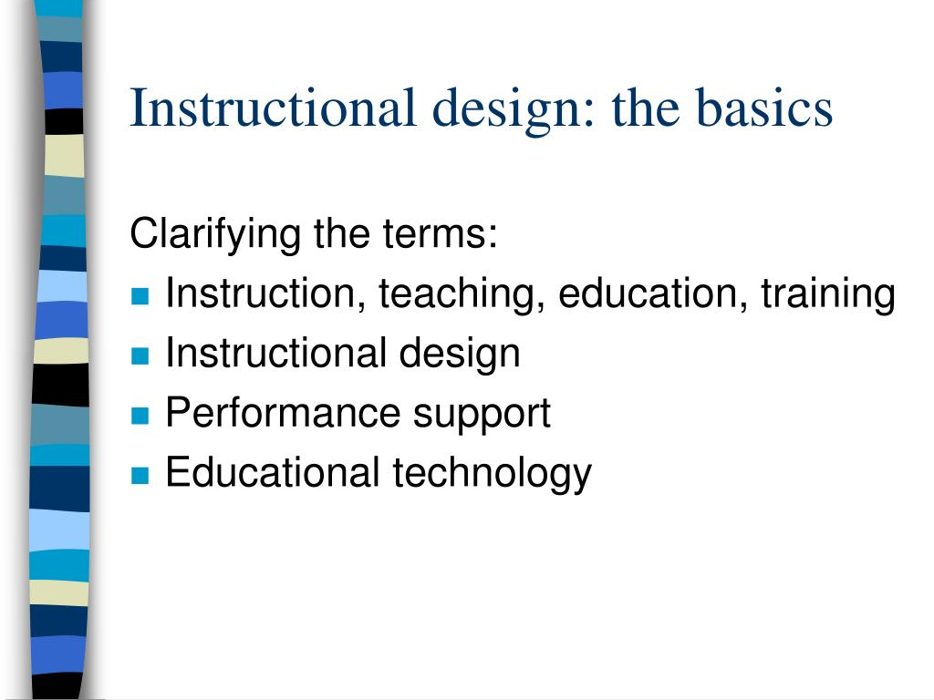 Instructional design: the basics