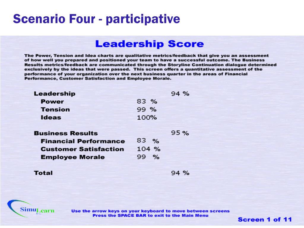 Scenario Four - participative