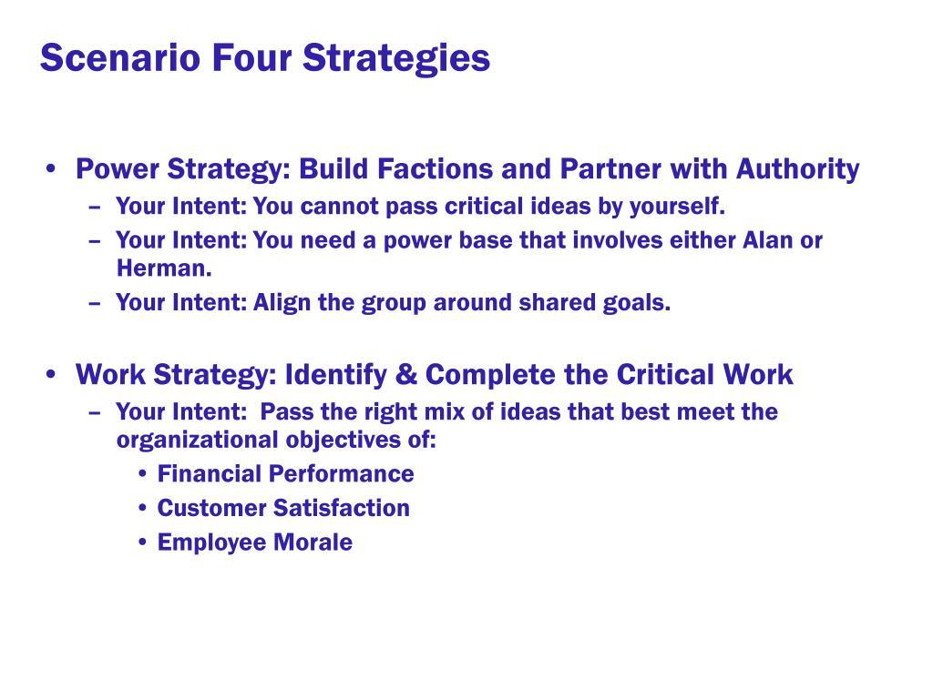 Scenario Four Strategies