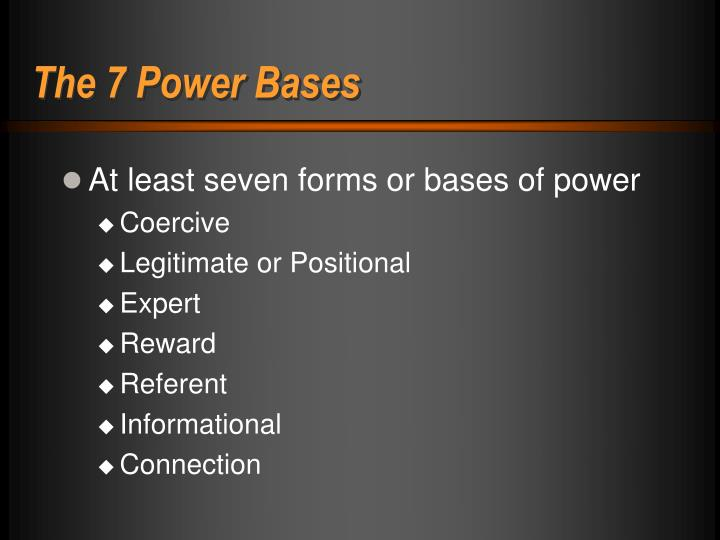 The 7 Power Bases