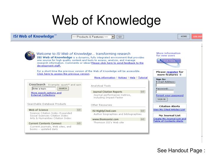 Web of knowledge3