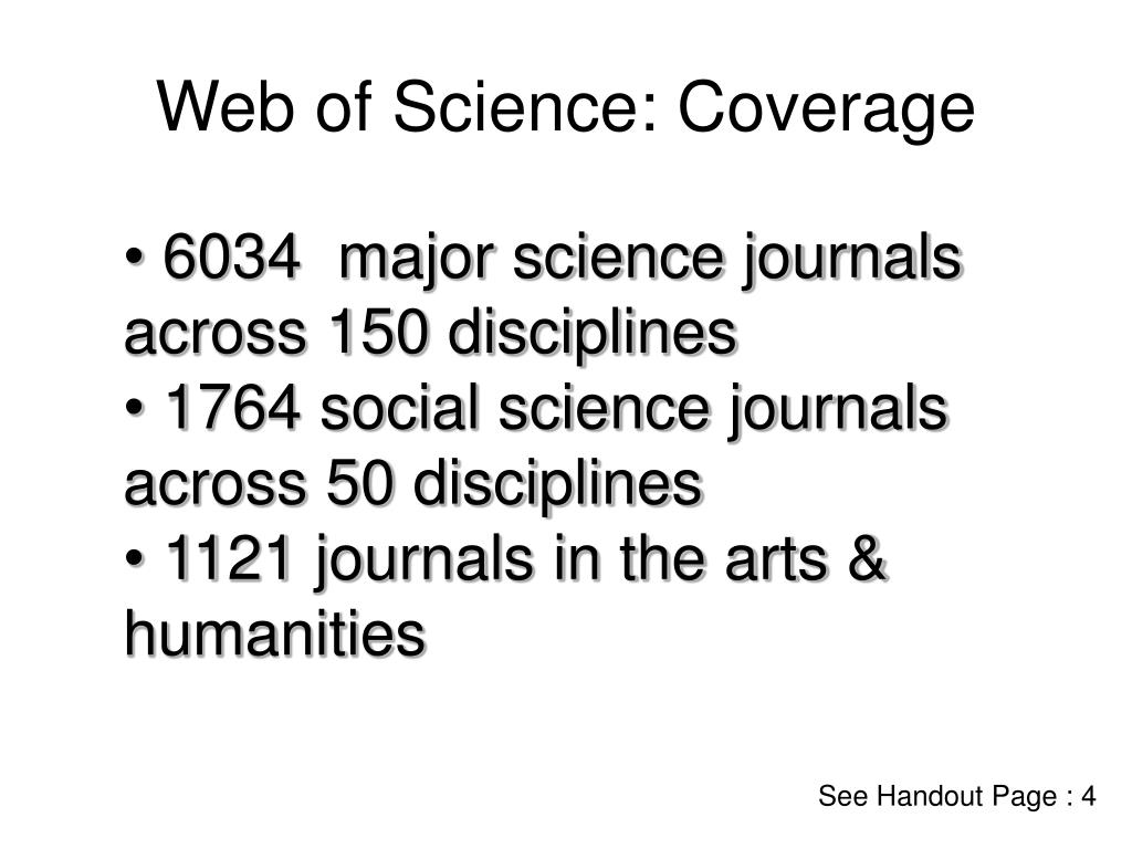 Web of Science: Coverage