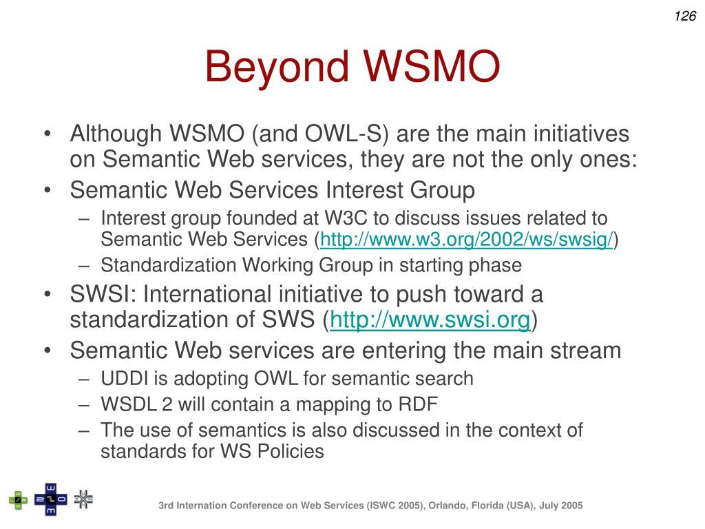Beyond WSMO