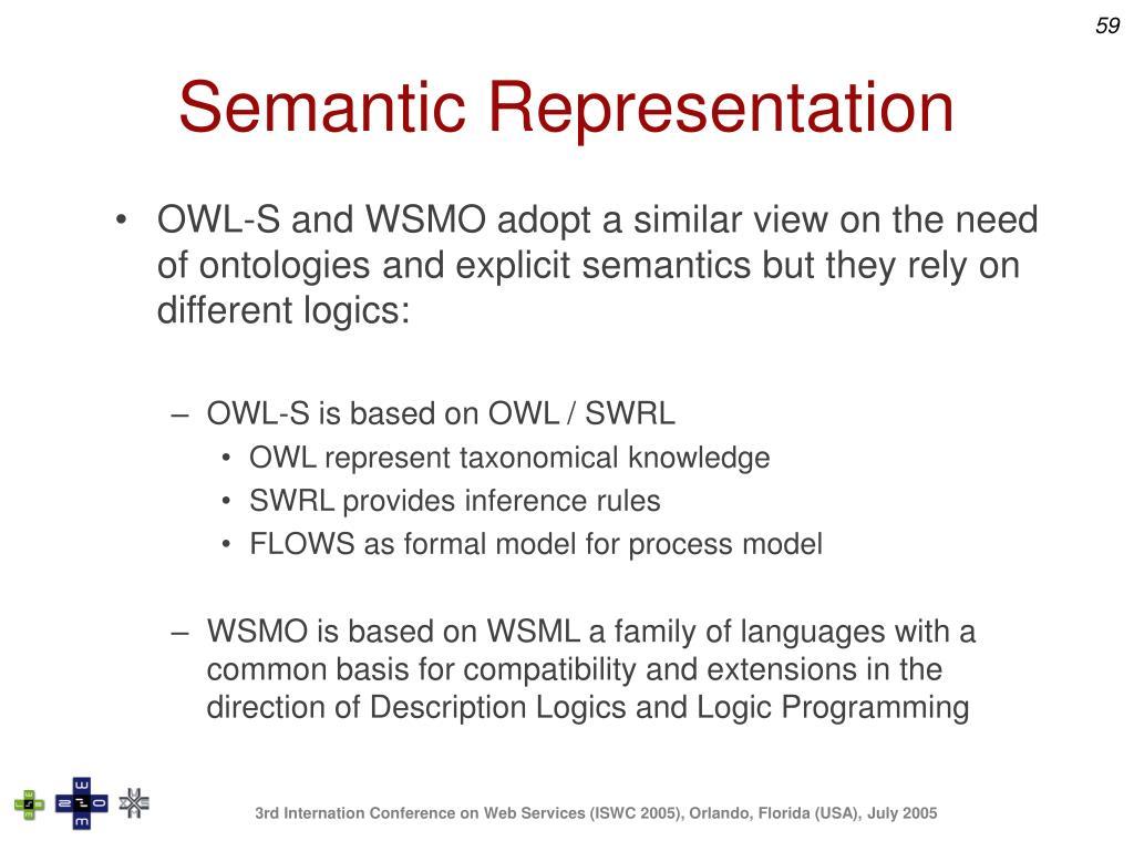 Semantic Representation