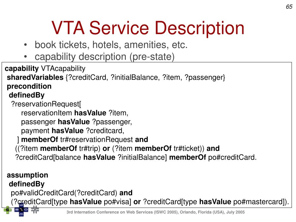VTA Service Description