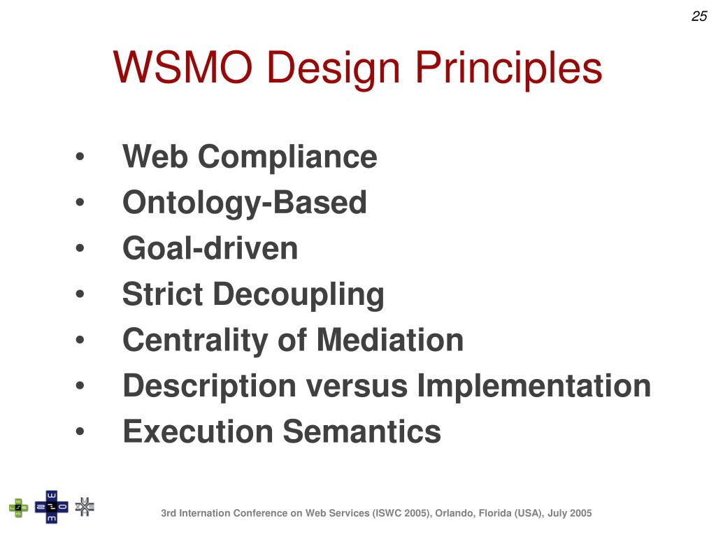 WSMO Design Principles