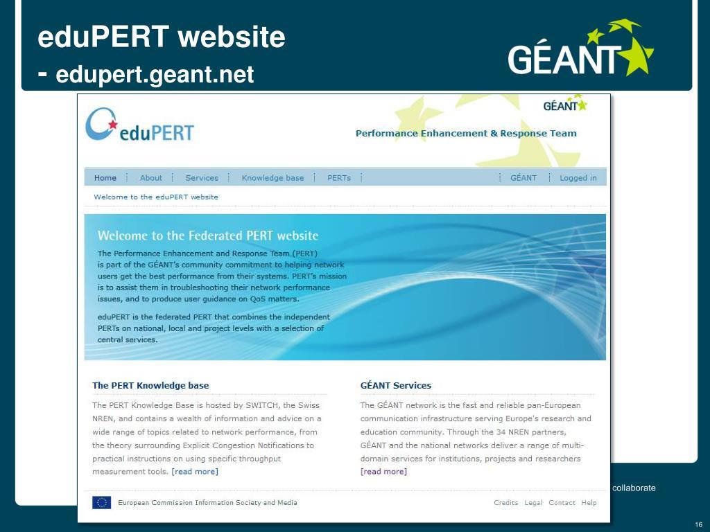 eduPERT website