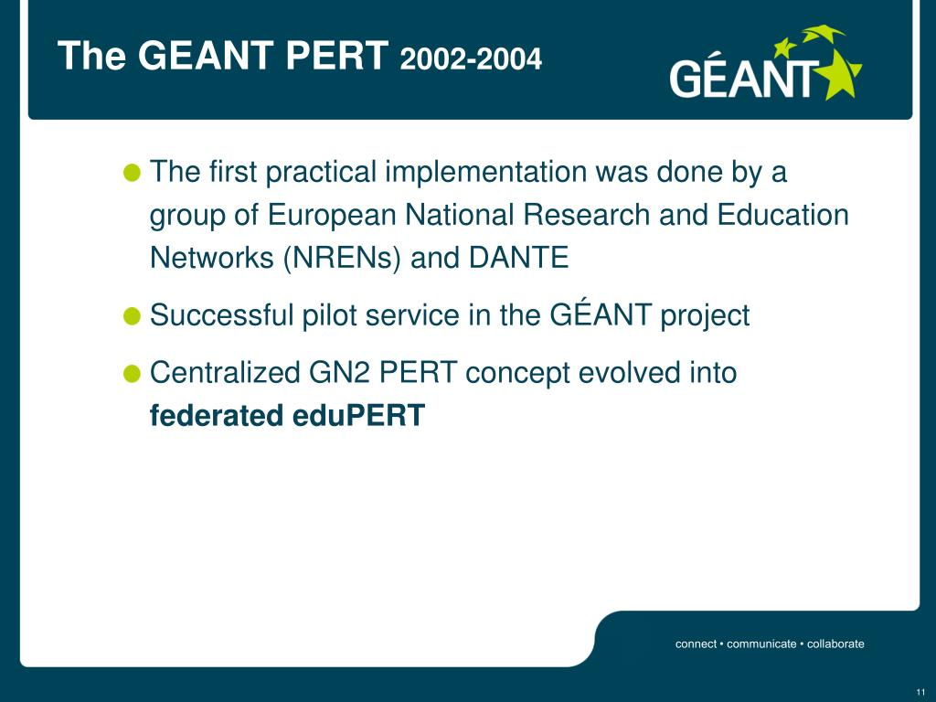 The GEANT PERT