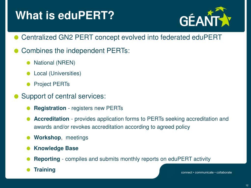 What is eduPERT?