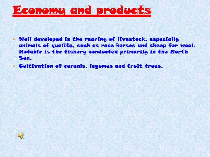 Economy and products