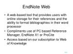endnote web
