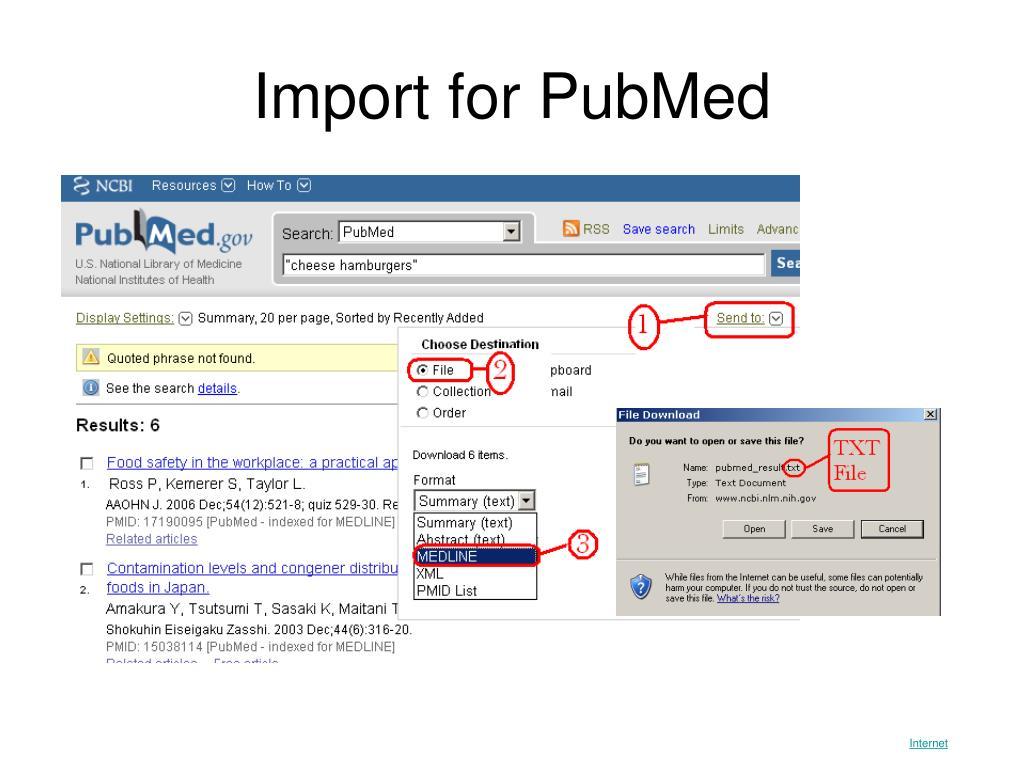 Import for PubMed