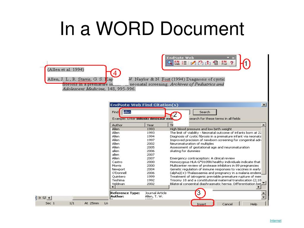 In a WORD Document
