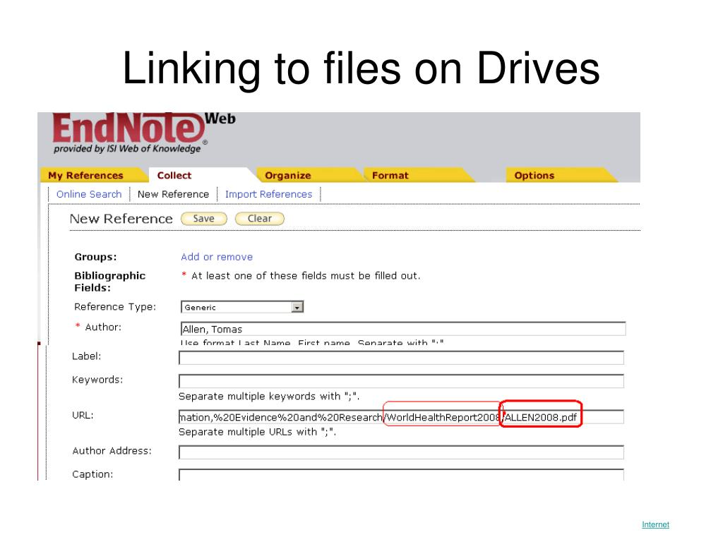 Linking to files on Drives