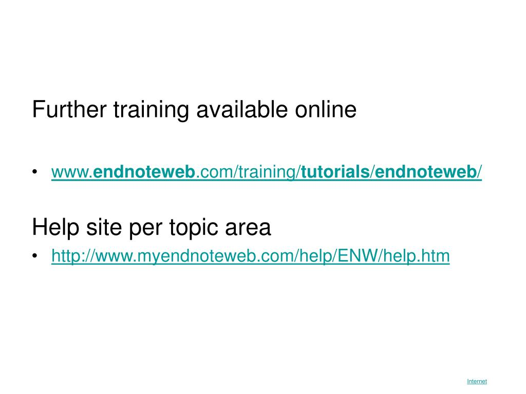 Further training available online