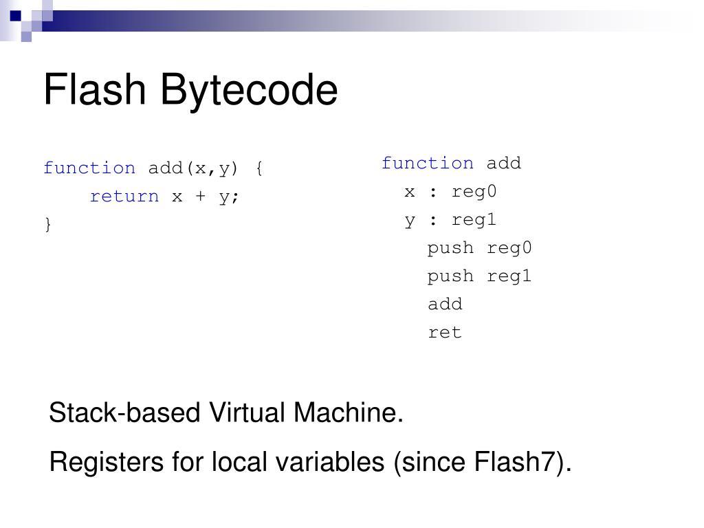 Flash Bytecode