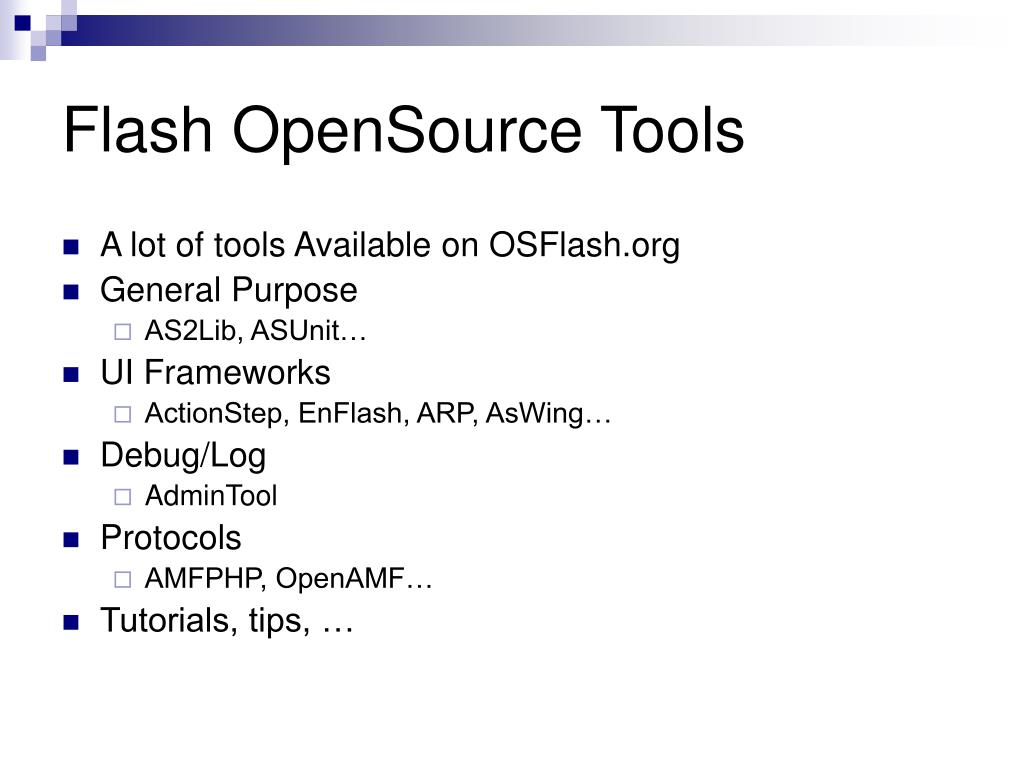 Flash OpenSource Tools