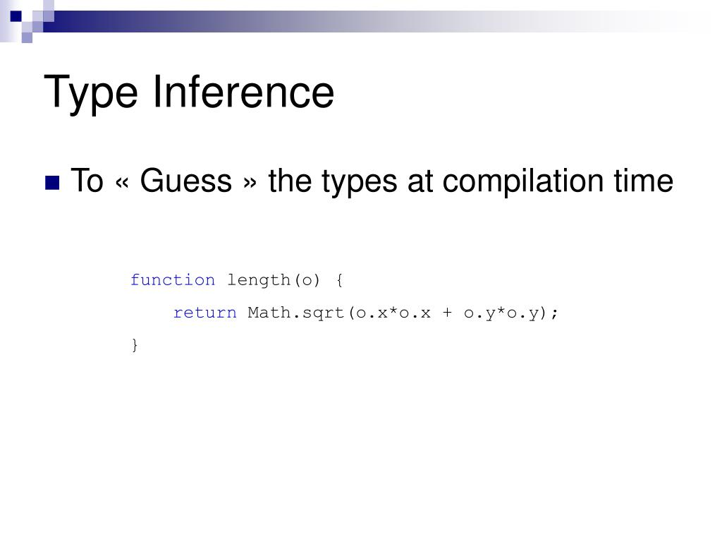Type Inference