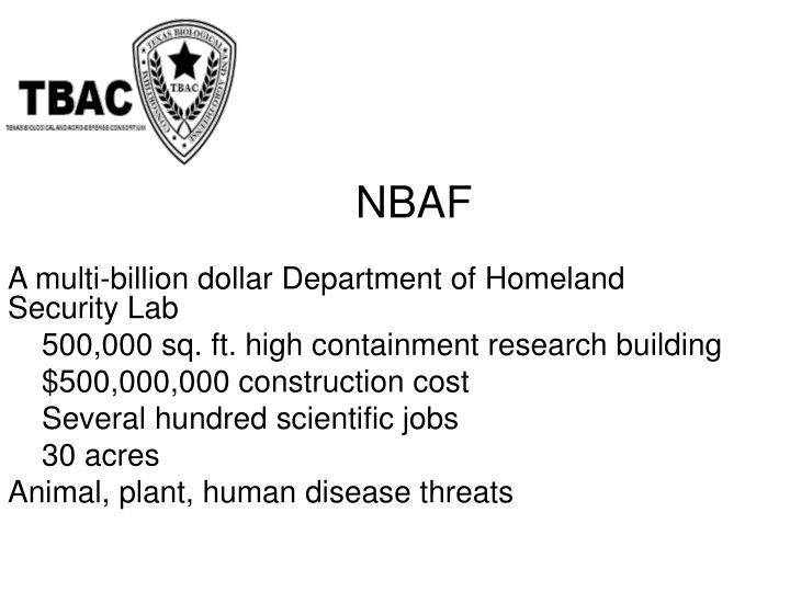 A multi-billion dollar Department of Homeland Security Lab