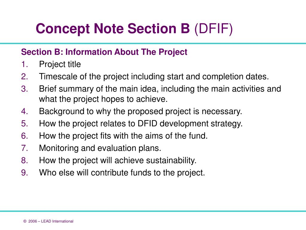 Section B: Information About The Project
