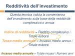 redditivit dell investimento