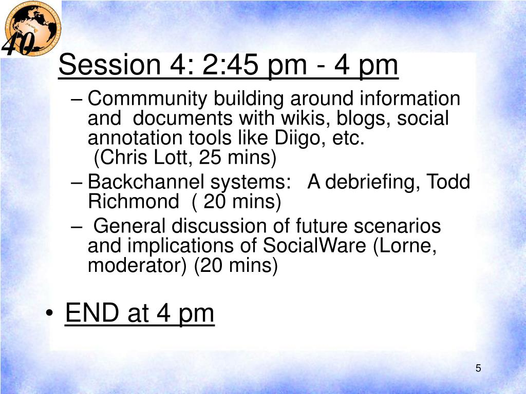 Session 4: 2:45 pm - 4 pm