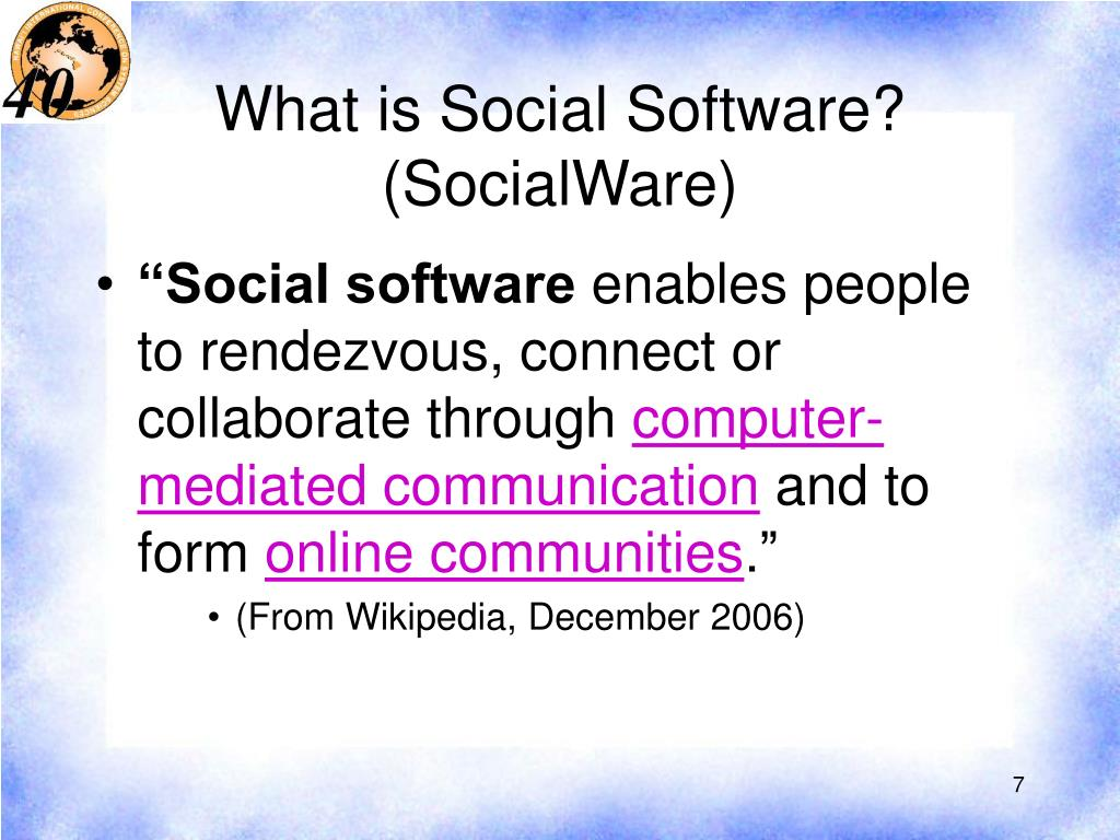 What is Social Software? (SocialWare)
