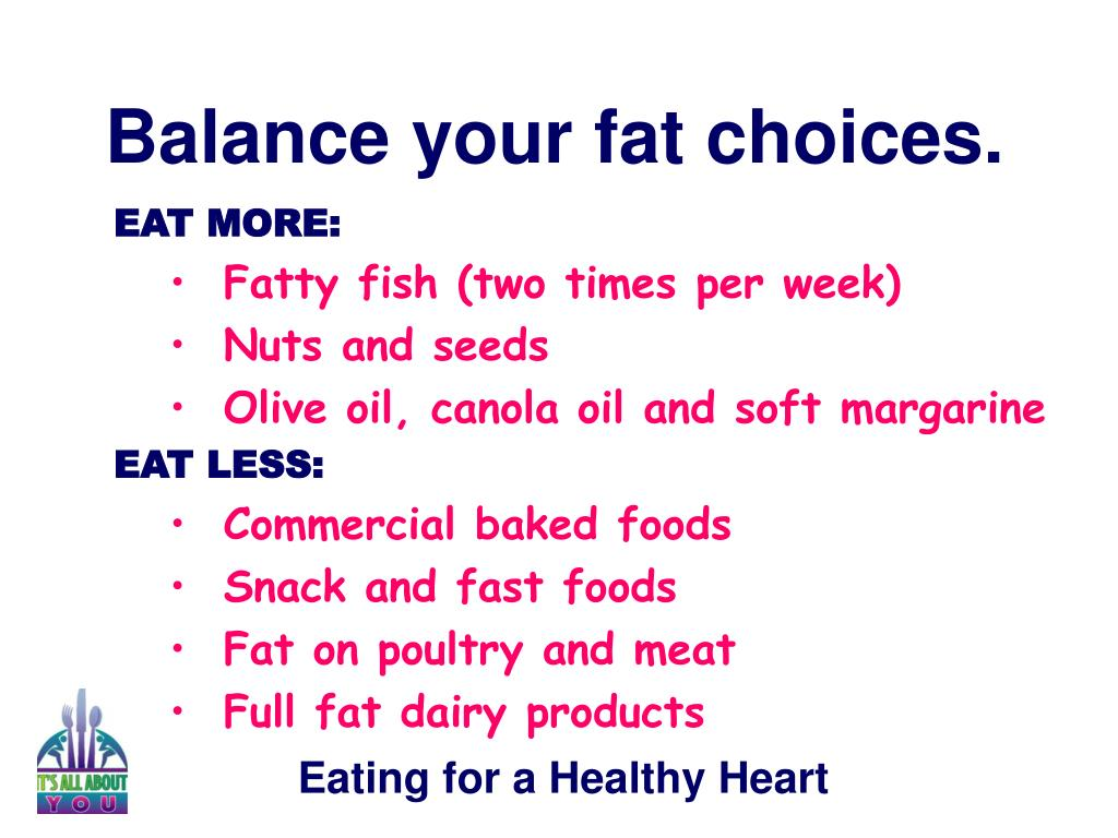 Balance your fat choices.