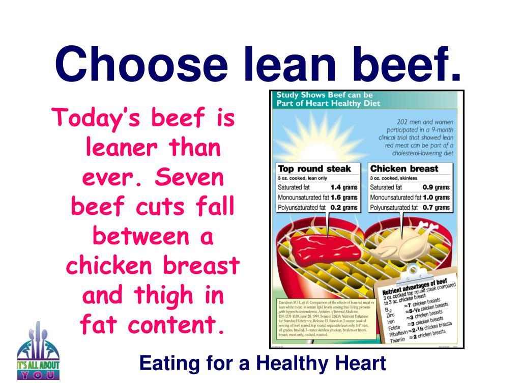 Choose lean beef.