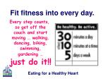 fit fitness into every day