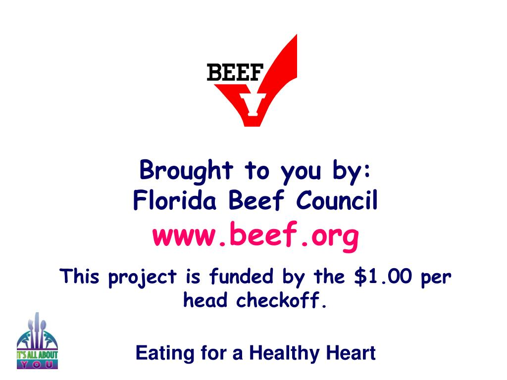 Brought to you by:             Florida Beef Council