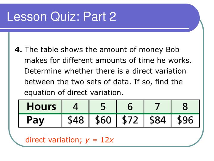 Lesson Quiz: Part 2