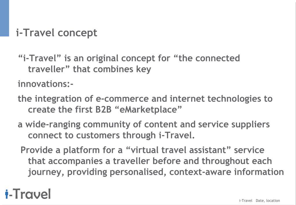 i-Travel concept