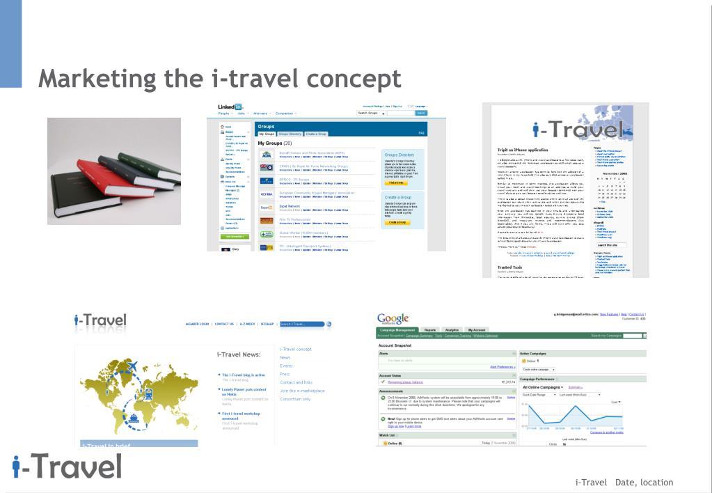 Marketing the i-travel concept
