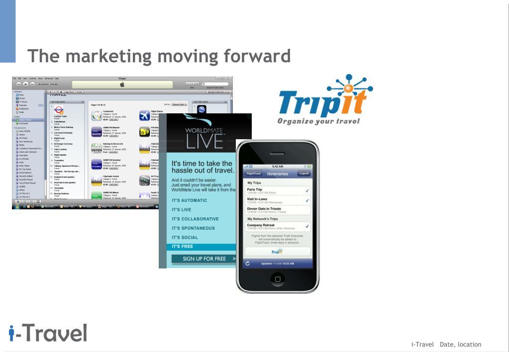 The marketing moving forward