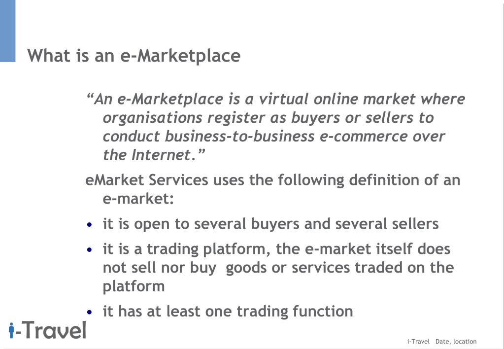 What is an e-Marketplace