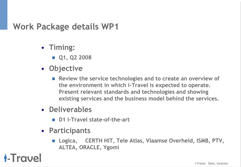Work Package details WP1