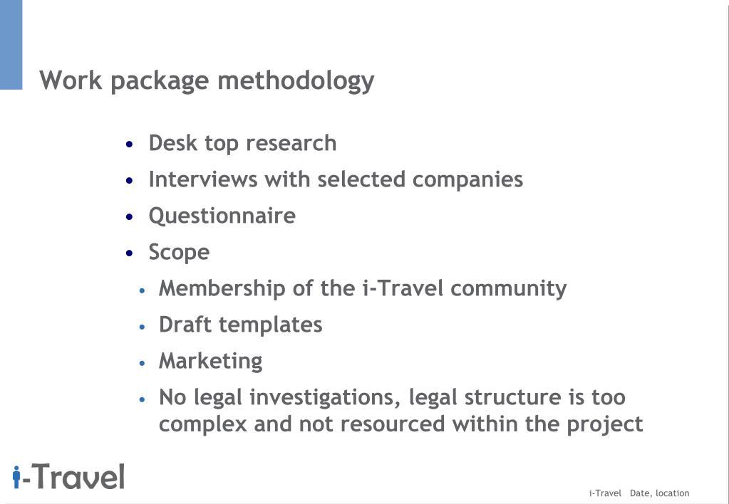 Work package methodology