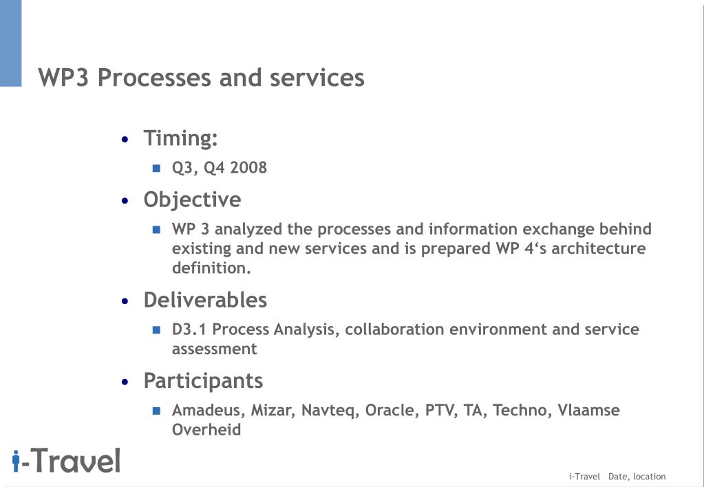 WP3 Processes and services