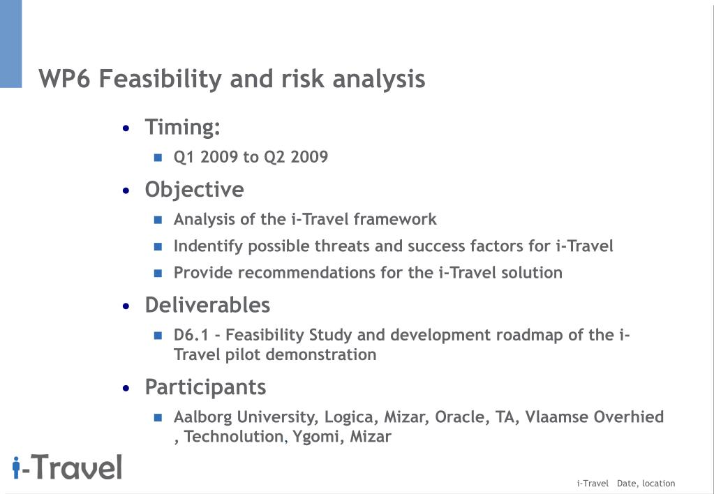 WP6 Feasibility and risk analysis