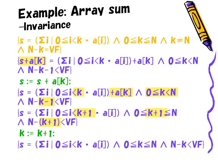 Example: Array sum