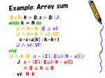 example array sum3