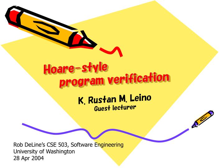 Hoare style program verification