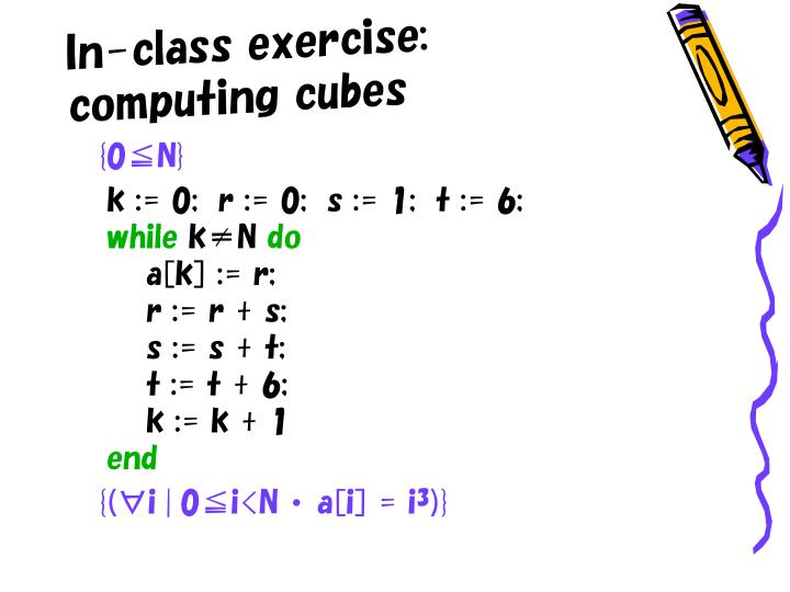 In-class exercise: computing cubes