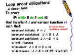 loop proof obligations a closer look