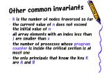 other common invariants
